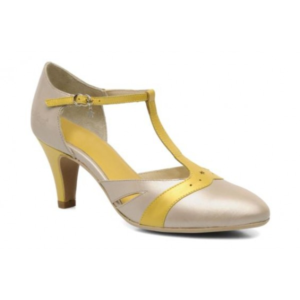 KICKERS CRYSTALE ARGENT JAUNE